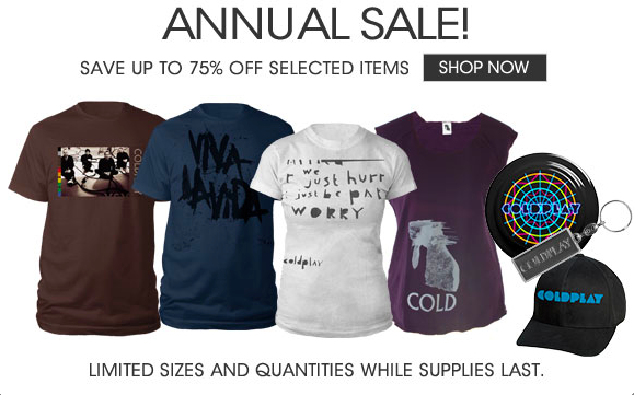f9a242df Get up to 75% off Coldplay merchandise | Coldplay